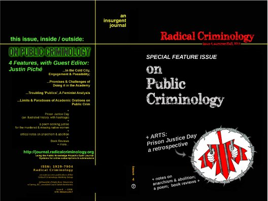 [IMG: Cover, Radical Criminology, Issue 4]